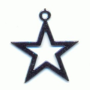Mixed Metallic Colored Star Charms.