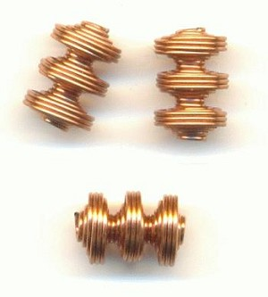 9x6.5 Copper Coated Steel Spiral Beads