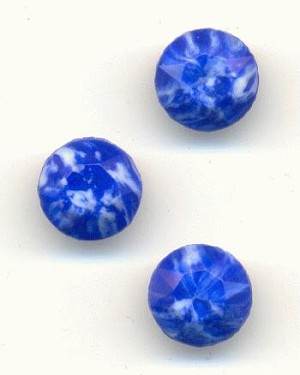 41ss/8.85mm Blue Marbled Faceted Stones