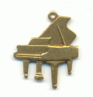 20x17mm AB Die Struck Grand Piano Charms