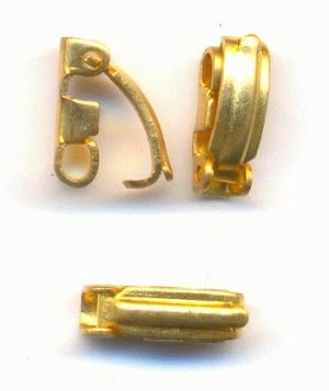 9.5x3.5mm Brass Fold Over Clasps