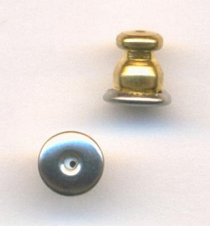 6x5.5mm Mixed Gold/Silver Ear Nuts