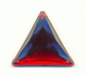 18mm Siam Ruby Sew-On Triangle RS