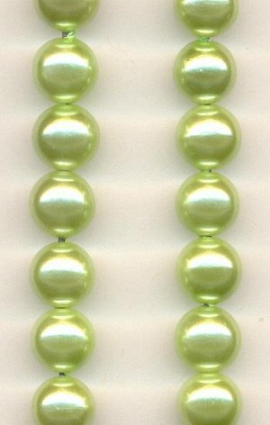 8mm Peridot Pearl Acrylic Beads