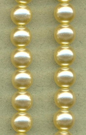 8mm Glass Champagne Pearls