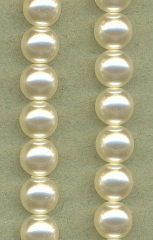 8mm White Glass Pearls