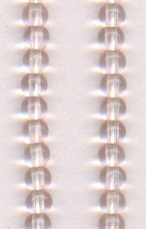 3mm Light Pink Pressed Glass Beads