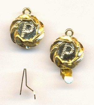19x12mm gold plated 1 ring box clasp - Christmas Ornament Ring Box