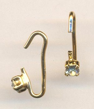 16mm GP End Hook with Rhinestone