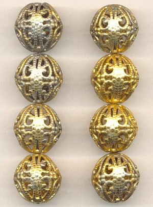 19mm GP Brass Filigree Beads