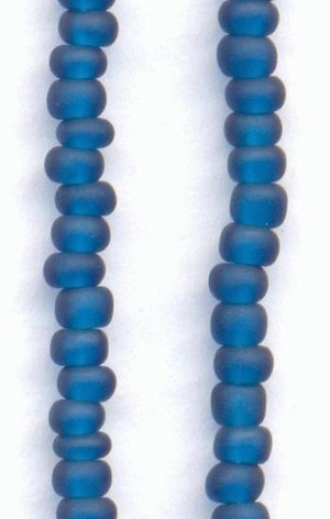 11/0 Frosted Montana Sapphire Seed Beads