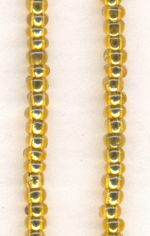 12/0 Light Topaz/Gold Seed Beads