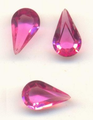 8x4.8mm Swarovski Trans Rose Pear RS