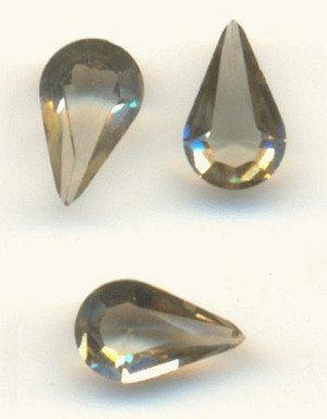 8x4.8mm Swarovski Black Diamond Pear RS