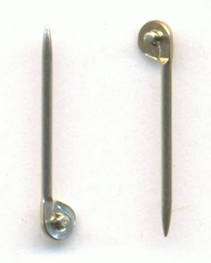 5/8'' 20G Silver T-Pins For Brooches