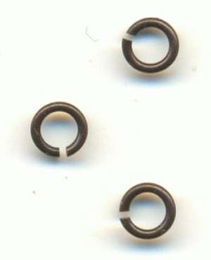 4mm Brass Ox Jump Rings