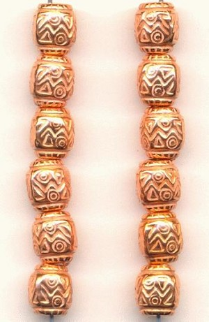9x8mm Metallized Plastic Copper Beads