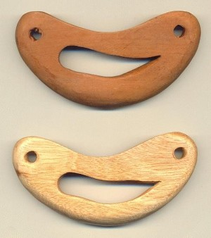 5'' x 2.5'' Wooden Two Holed Bases