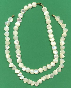 Three Mother-Of-Pearl Necklaces