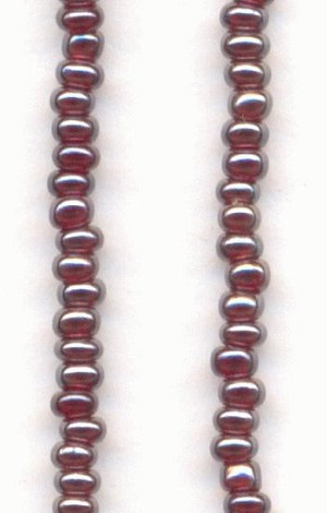 12/0 Siam Ruby/Silver Seed Beads