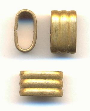 12x7mm Corrugated Brass Connectors
