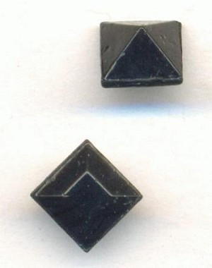6mm Black Square Stones