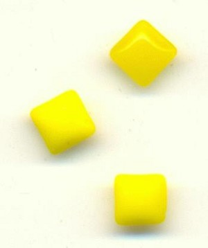 4x4mm Yellow Square Moonstones