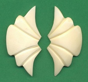 45x23mm Carved Bone Stones