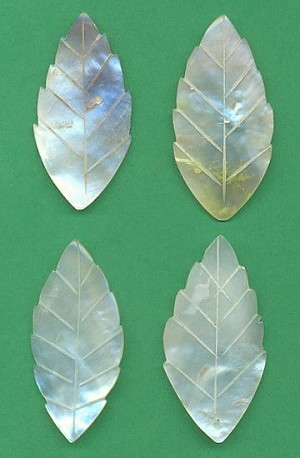 47x24mm Mother Of Pearl Leaves
