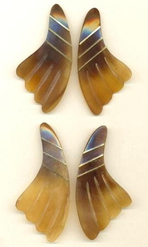 3 3/4'' x 1 3/4'' Carved Wing Drops