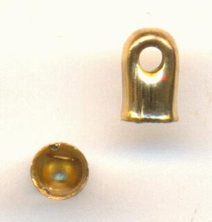 2.5mm Gold Plated Chain Caps