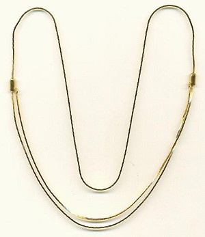 29'' 1mm Gold Plated Adjustable Necklace