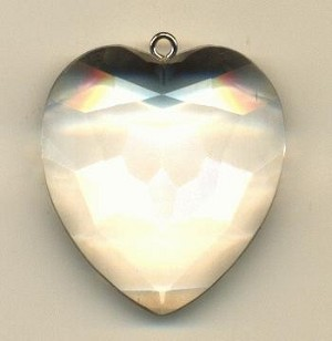 36x33mm Crystal Lucite Heart Pendant