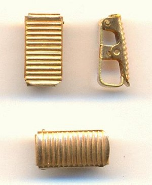 12x6mm Brass Fold Over Clasps