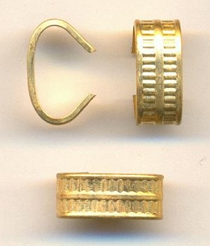 13x5.6mm Brass Ribbed Connectors