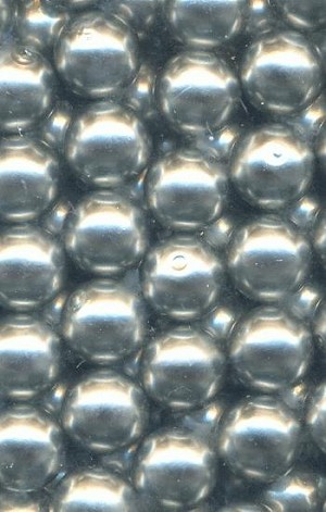 8mm Steel Gray Half-Drilled Pearls