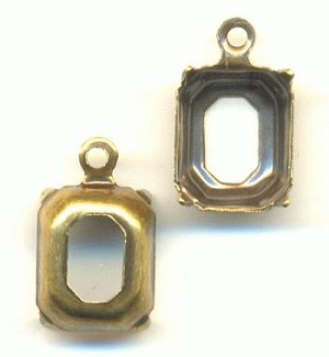 10x8mm Antique Brass OB Octagon 1R