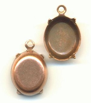 12x10mm Antique Copper CB Oval 1R