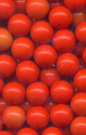 8mm Orange Plastic No Hole Beads