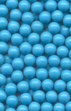 4.3mm Turquoise Plastic No Hole Beads