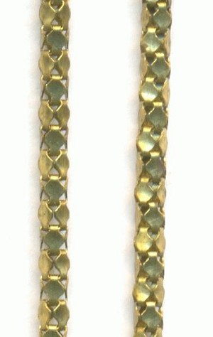 2mm Brass Serpentine Chain