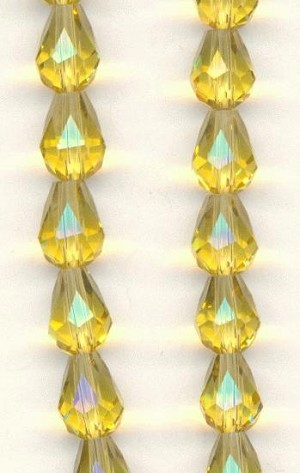 7x6mm Topaz Faceted Pear Beads