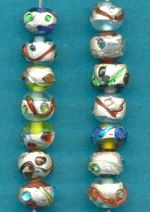 8x6mm Mixed Lampwork Beads