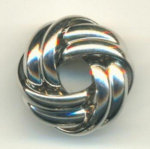 20x12mm Silver Plated Metal Knot Beads