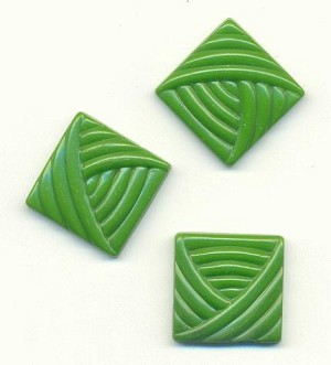18mm Green Glass Squares
