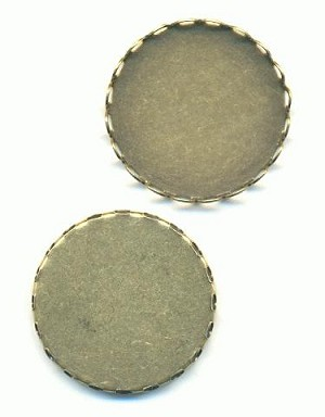 26mm Antique Brass CB FB Lace Setting
