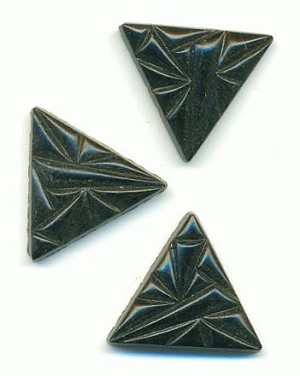 16mm Black Textured Triangles