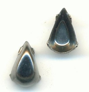 8x4mm Gunmetal Pear Settings CB