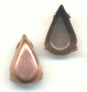 13x7.8mm Antique Copper Pear Settings CB
