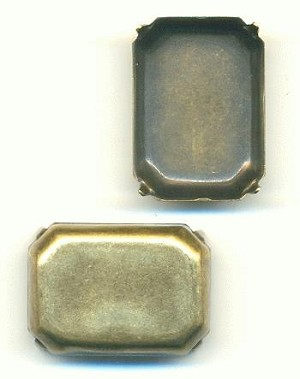 25x18mm Antique Brass CB Oct Setting